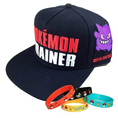Pokemon Go Trainer Snapback Cap Hat with Bracelet c43bc0913fd4