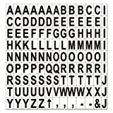 Interchangeable Magnetic Characters, Letters, Black, 3/4''''h, Sold as 1 Each