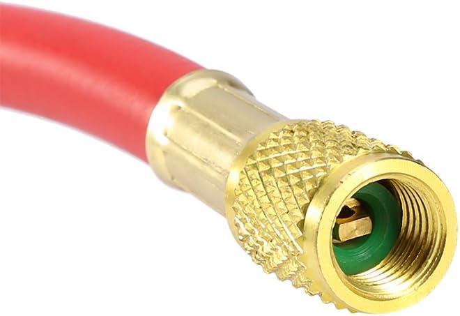 Inyector de aceite 1 4SAE R134 Inyector de aceite de 2 oz R134A R12 R22 Sistema de aire acondicionado de refrigeraci/ón Llenadora de aceite Coche A//C AC Aceite y tinte