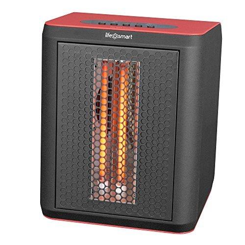 Lifesmart 3 Element 1200W Infrared Quartz Electric Portable Desktop Heater & Fan
