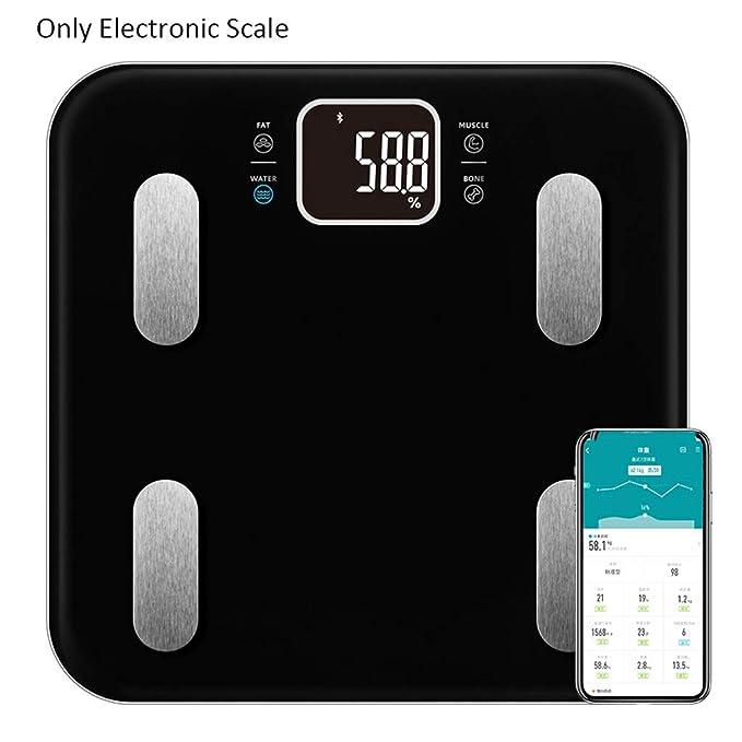 LF Stores Inicio APLICACIÓN Bluetooth Control Smart Digital Baño Peso Escala electrónica Escala de Peso precisa 330 Libras (Color : White): Amazon.es: Hogar