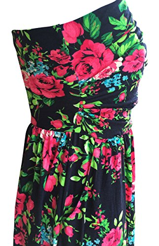 Lucky Love Maxi Dresses for Women, Plus Size Summer Beach Dress, Strapless, Vintage Floral by Lucky Love (Image #5)