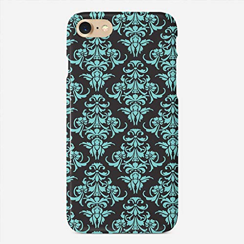 ZHIQCH iPhone 7/8 case Damask Vintage Chandelier Wallpaper Floral Pattern Slim Fit Hard Plastic Cover Cases Full Protective Anti-Scratch Resistant Compatible iPhone 8/7
