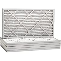 12-1/2x24-1/2x1 Dust & Pollen Merv 8 Pleated Replacement AC Furnace Air Filter (6 Pack)