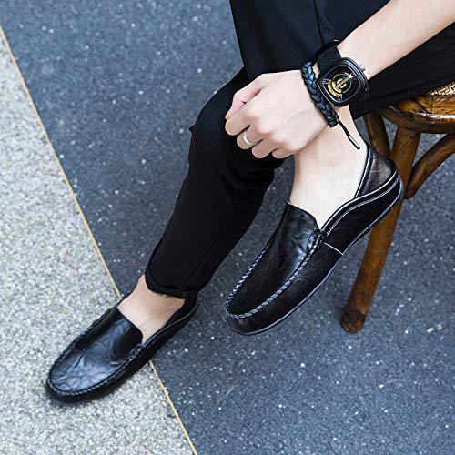 Sunny Holiday SH-90158 Zapatos Planos con Cordones de Piel Hombre