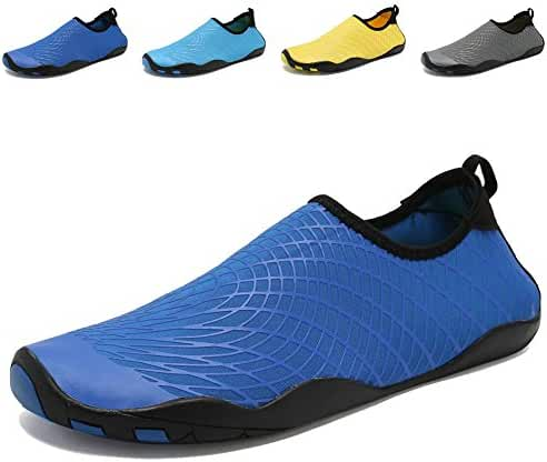 CIOR Men Women Kid's Barefoot Quick-Dry Water Sports Aqua Shoes with 14 Drainage Holes for Swim, Walking, Yoga, Lake, Beach, Garden, Park, Driving