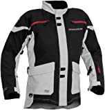 Firstgear TPG Rainier Men's Motorcycle Jacket (Black/Silver, Large)