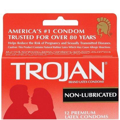Trojan Non-Lubricated Premium Latex Condoms 12 ct (Quantity of 3)
