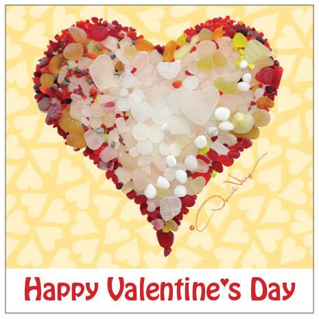 Happy Valentine's Day, 3x3, Set of 30 Unique Red Sea Glass Heart Children's Valentines Cards. Best Quality Valentines. Great for Kids of All Ages, Boys, Girls, Kindergarten, Preschool & Grade School (Red Heart Card)