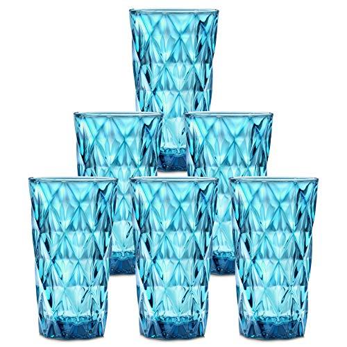 Chef's Star 13 Oz Water Glasses, Glass Cups, Heavy Base Drink Glasses, Bar Glasses, Kitchen Glasses, Elegant Highball…