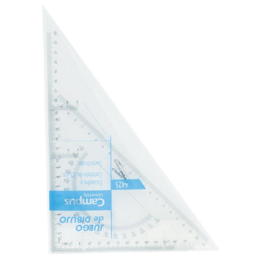 University 6435/600289 Campus-Set da disegno, con staffa, integrato e semicírculo Squadra, 35 cm Makro Paper SP.SL