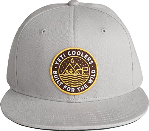 YETI Outdoor Badge High-Pro Flat Brim Hat, Gray]()