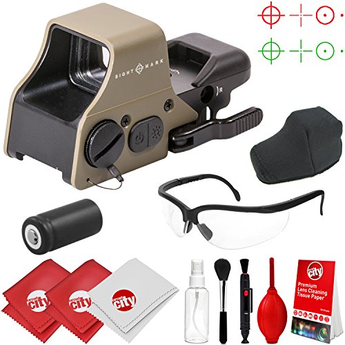 Circuit City Sightmark Ultra Shot Plus Reflex Dark Earth Red/Green Dot Sight w/Clear Ballistic Glasses and Cleaning Kit (SM26008DE) For Sale
