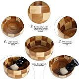 Anself Men's Shaving Bowl Male Soap Cup Bamboo Wet