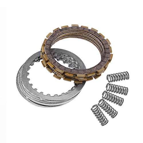 Clutch Friction Plate Kit,Complete Clutch Kit Includes Friction Plates Springs for Yamaha Blaster 200 YFS200 1988-2006 ATV Atv Clutch Friction Plates