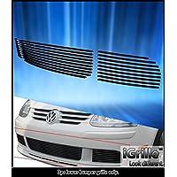 Fits 07-09 VW Volkswagen Rabbit Black Bumper Stainless Steel Billet Grille #V65535J