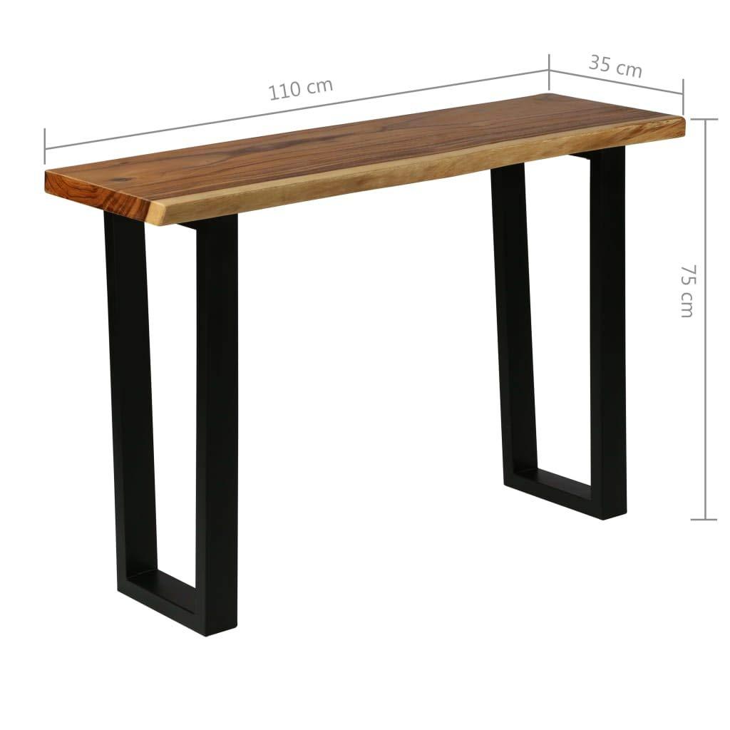 Tavolo Consolle Festnight Consolle Ingresso in Legno Massello di Suar 110x35x75 cm
