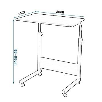 Afanyu Mesa de trabajo portátil con soporte para mesa portátil de ...