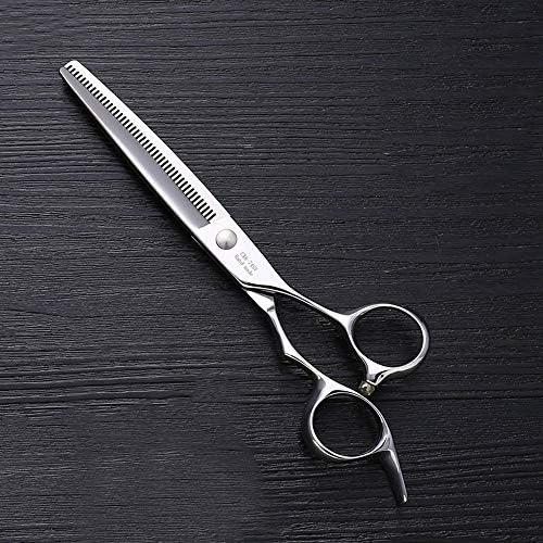 ヘアカット鋏 はさみ 7インチのステンレス鋼ペットトリマーの特別なはさみ、ペット歯の薄いはさみ ヘアトリミングシザー (Color : Silver)