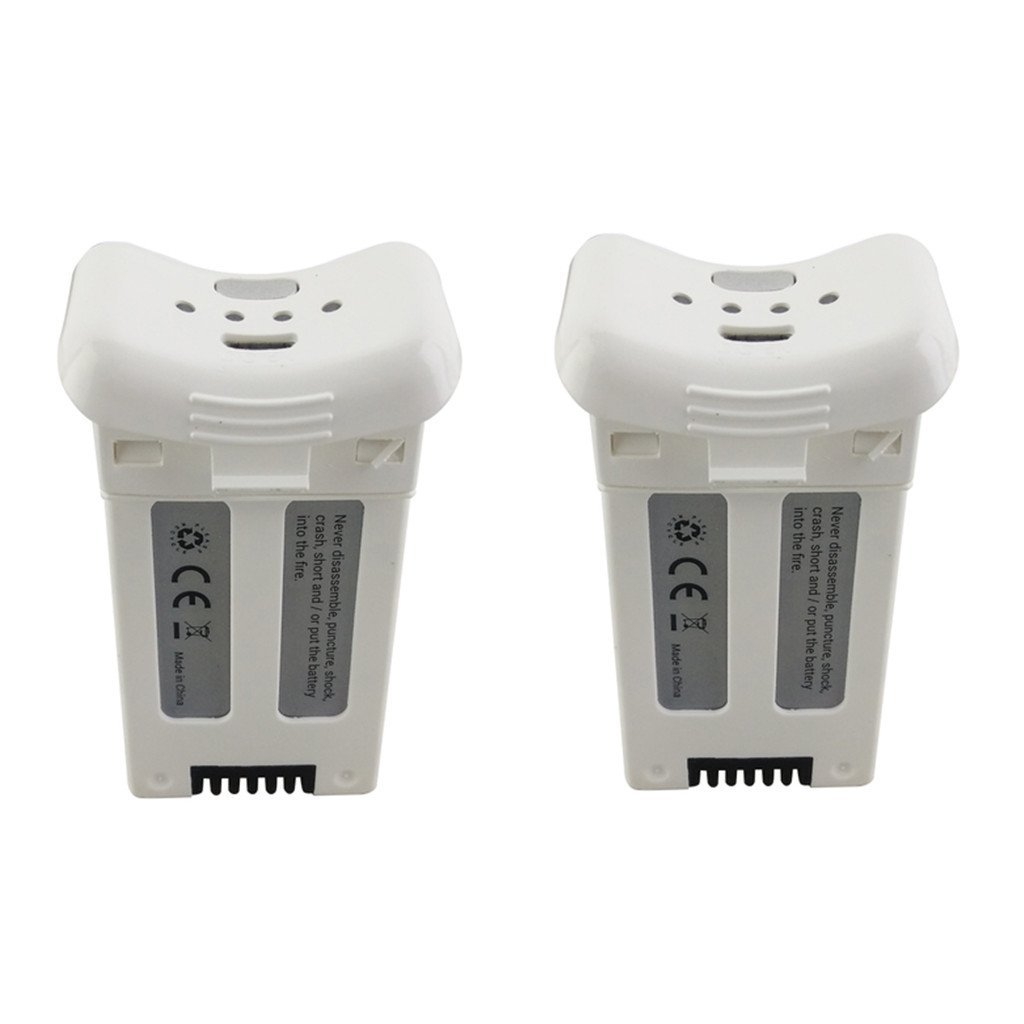 Fytoo 2PCS 3.7V 1000mAh Lithium Battery for SJRC S20W T25 Four-axis Drone Spare Parts Remote Control Aircraft Battery White