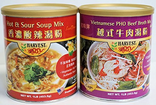 PHO Beef Broth Mix & Hot & Sour Soup Mix