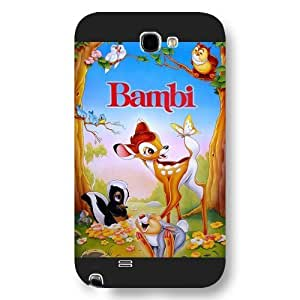 Customized Black Frosted Disney Cartoon Movie Bambi Samsung Galxy S4 I9500/I9502