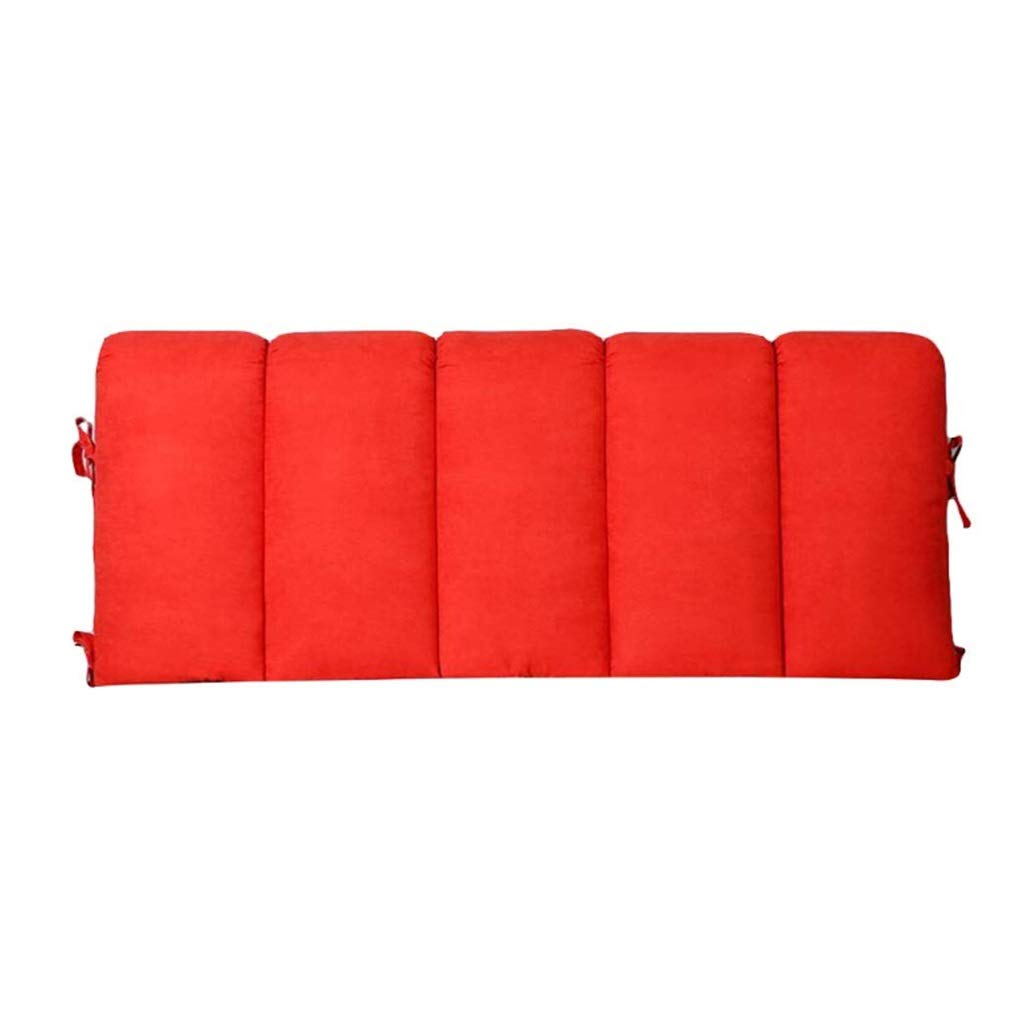 ZHWNGXO Large Pillow Support Reading Back Pillow Mattress Mattress, Detachable Washable Cover Size: 80x50cm (Color : Red, Size : 200×60cm)