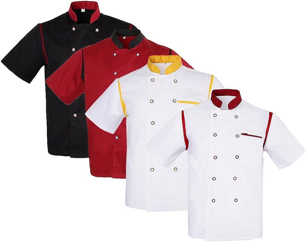 dailymall Unisex Chef Jacket Air Mesh Short Sleeve Hotel Kitchen ...