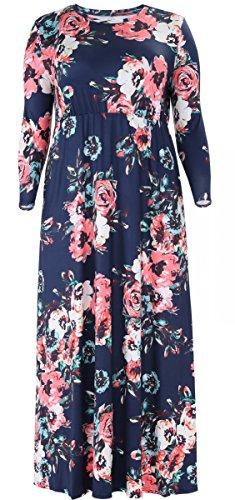 Alaroo Plus Size A Line 3/4 Sleeve Pocket Casual Maxi Maternity Dresses Old Navy 2XL