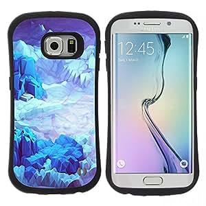 "Pulsar iFace Series Tpu silicona Carcasa Funda Case para Samsung Galaxy S6 EDGE , Iceberg Planet Space Terreno Azul"""
