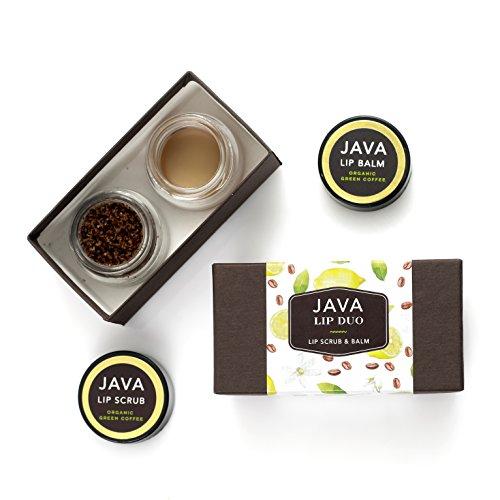 JAVA Skin Care - Demitasse Lip Duo Lip Scrub & Lip Balm with Lemon & Coffee