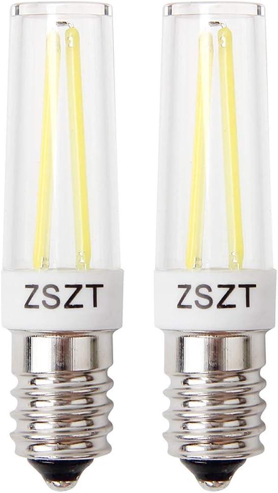 Bombillas campana extractora, ZSZT Bombillas Filamento LED 5W E14 equivalente incandescente de 40W, Blanco Frío 6000K, pequeña y potente, 2 unidades: Amazon.es: Iluminación