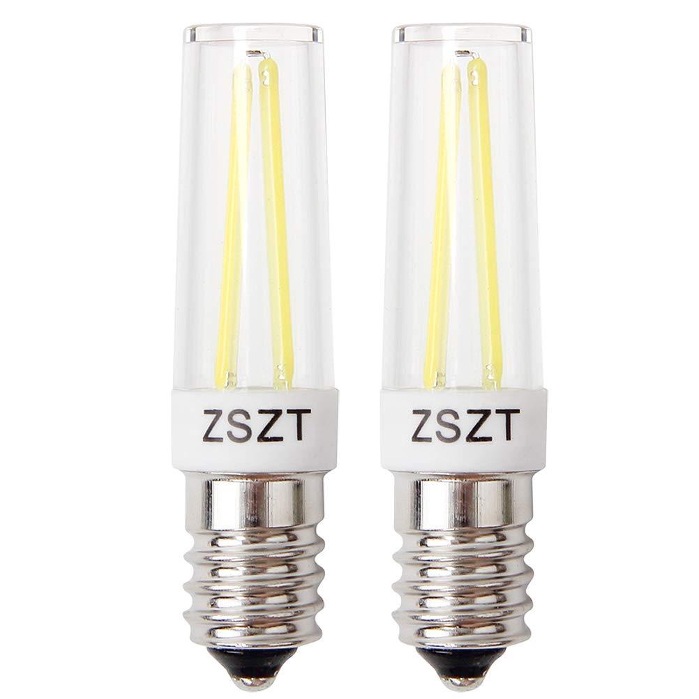 Glühbirne dunstabzugshaube E14 Fadenlampe 5W Ersatz für 40W Halogenlampen, Warmweiß 2700K 220-240V, für Kronleuchter Wandlampe etc (2er-Pack)