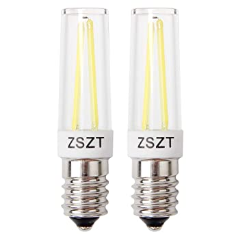 Bombillas campana extractora, ZSZT Bombillas Filamento LED 5W E14 equivalente incandescente de 40W, Blanco