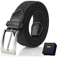 Elastic Braided Belt, Fairwin 1.3'' Men's Stretch Belt, Fabric Woven Belt