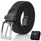Elastic Braided Belt, Fairwin Enduring Stretch Woven Belt for Men/Women/Junior (S (for waist 28''-31''), Black)