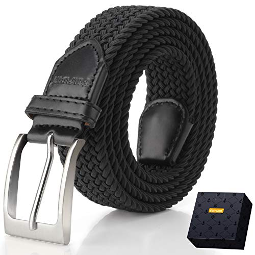 Elastic Braided Belt, Fairwin Enduring Stretch Woven Belt for -