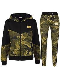 Kids Boys Girls Tracksuit Designer A2Z Project Camouflage Hooded Top Bottom 5-13