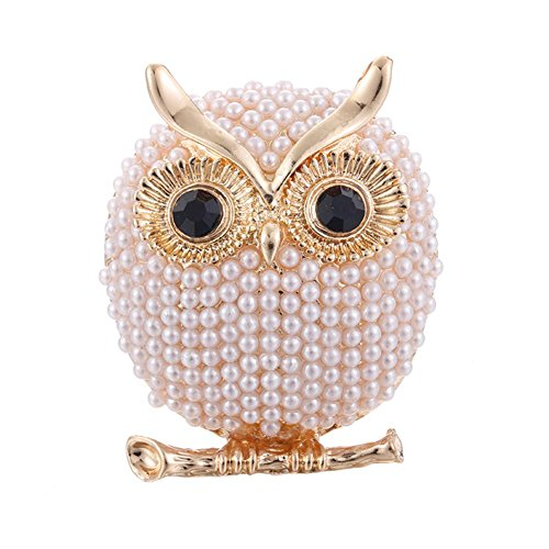 sikiwind Big Eye Owl Brooch Hat Scarf Sweater Pins Party Jewelry Cute Brooch for Woman Kids Girls(Gold) ()