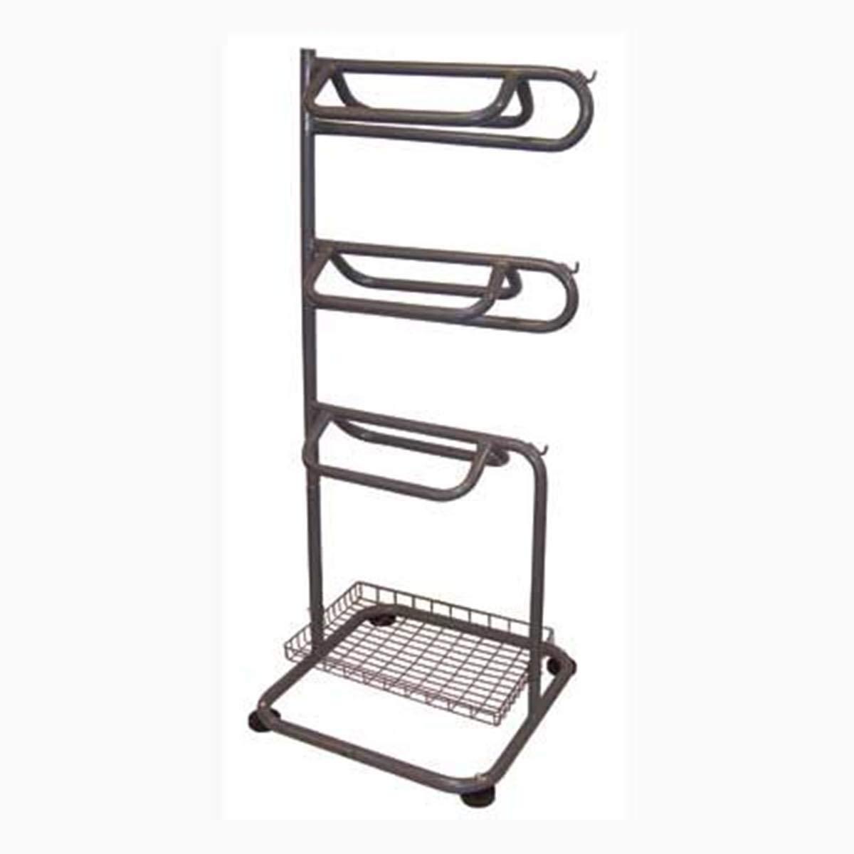 DDI Saddle Rack 3 Tier Steel Construction Gray Top 2 Racks Swivels