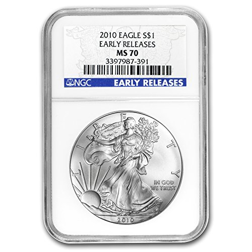2010 Silver American Eagle MS-70 NGC (Early Releases) 1 OZ MS-70 NGC
