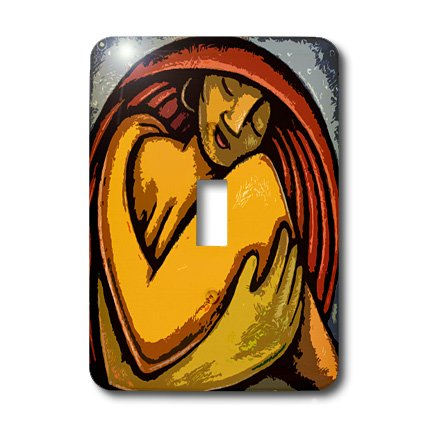 3dRose Lsp_21131_1 The Art Of Loving Yourself Cutout Woman Love Colorful Moon Single Toggle Switch