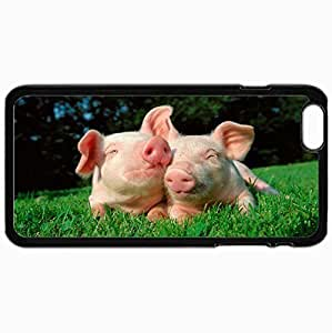 Customized Cellphone Case Back Cover For iPhone 6 Plus, Protective Hardshell Case Personalized Form Picture Large Nice Design Black