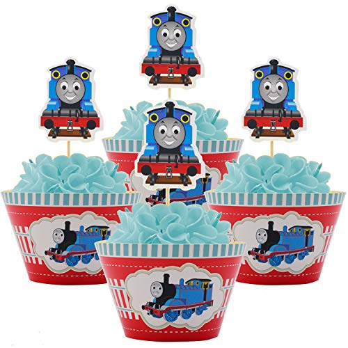 (Betop House Thomas and Friends Cars Themed Boys Girls 1st Birthday Party Kids Gathering Baby Shower Halloween Decorative Wrappers and Toppers)