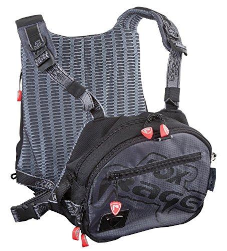 Fox Rage Voyager Tackle Vest, Angeltasche inkl. 2 Angelboxen / Tackleboxen, Anglertasche zum Spinnfischen, Angelweste für Köder, Fox Tasche