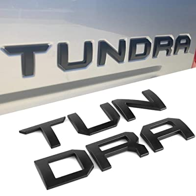 Super Repairman for Toyota Tundra 2014-2020 Special 3D Zinc Alloy Tailgate Insert Letters - Matte Black (Not Decal Sticker): Automotive