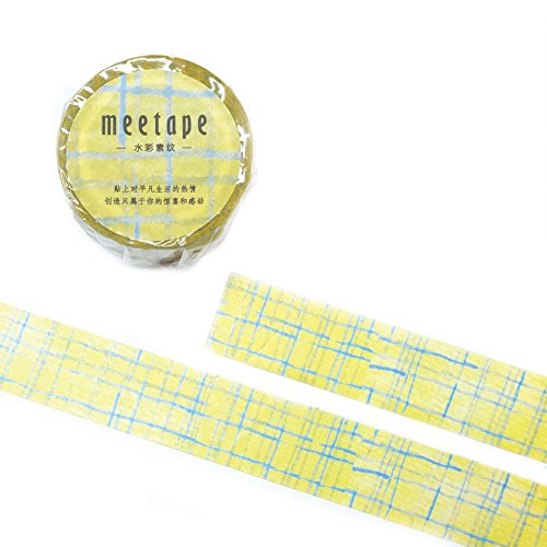 Signature Collection Designer Washi Tape: Perfect Multi Purpose Colored Masking Tape for Walls, Arts and Crafts, DIY, Scrapbook - 20mm x 10m (Swedish Quilt)