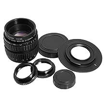 XCSOURCE® 35mm F1.7 TV Lens for M4/3 Cameras + C-M4/3 C mount Adapter + 2 Macro Ring LF12