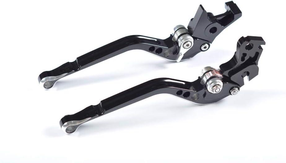 WildBee Course de moto longue r/églable Noir et rouge Leviers de frein et leviers dembrayage Compatible pour SPEED TRIPLE 1050 2011-2015