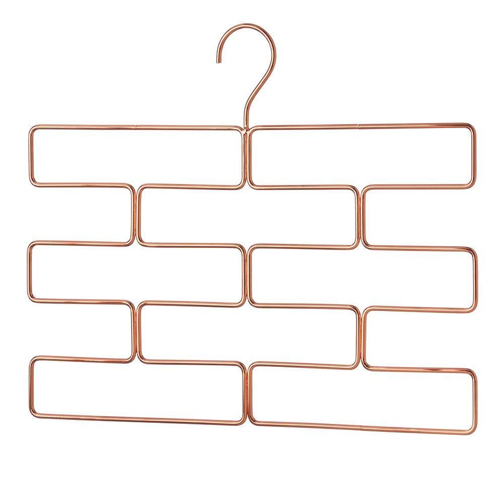 bronzefarben mDesign kompakte H/ängeaufbewahrung f/ür Yogahosen Leggings usw platzsparender Accessoire-Organizer f/ür den Kleiderschrank geometrisch geformter Hosenb/ügel mit acht /Öffnungen
